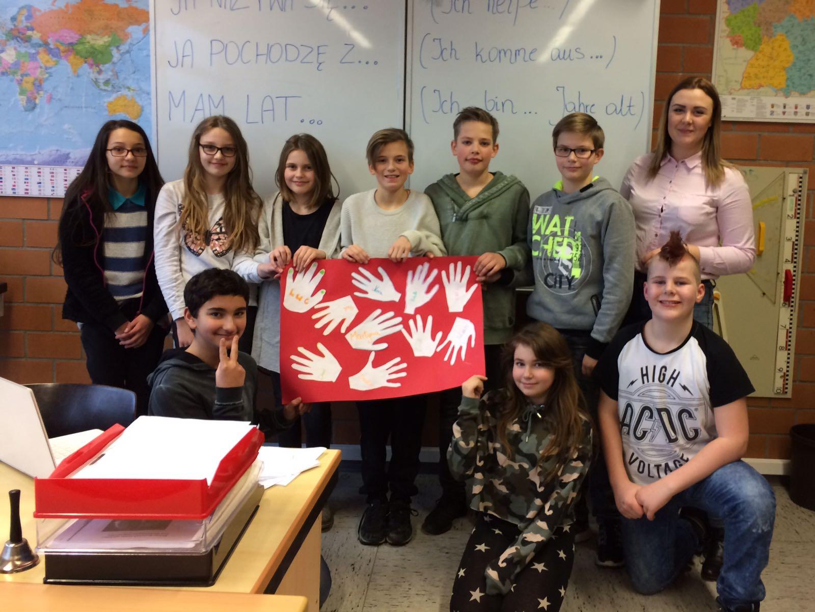 Europäischer Austausch im Klassenzimmer